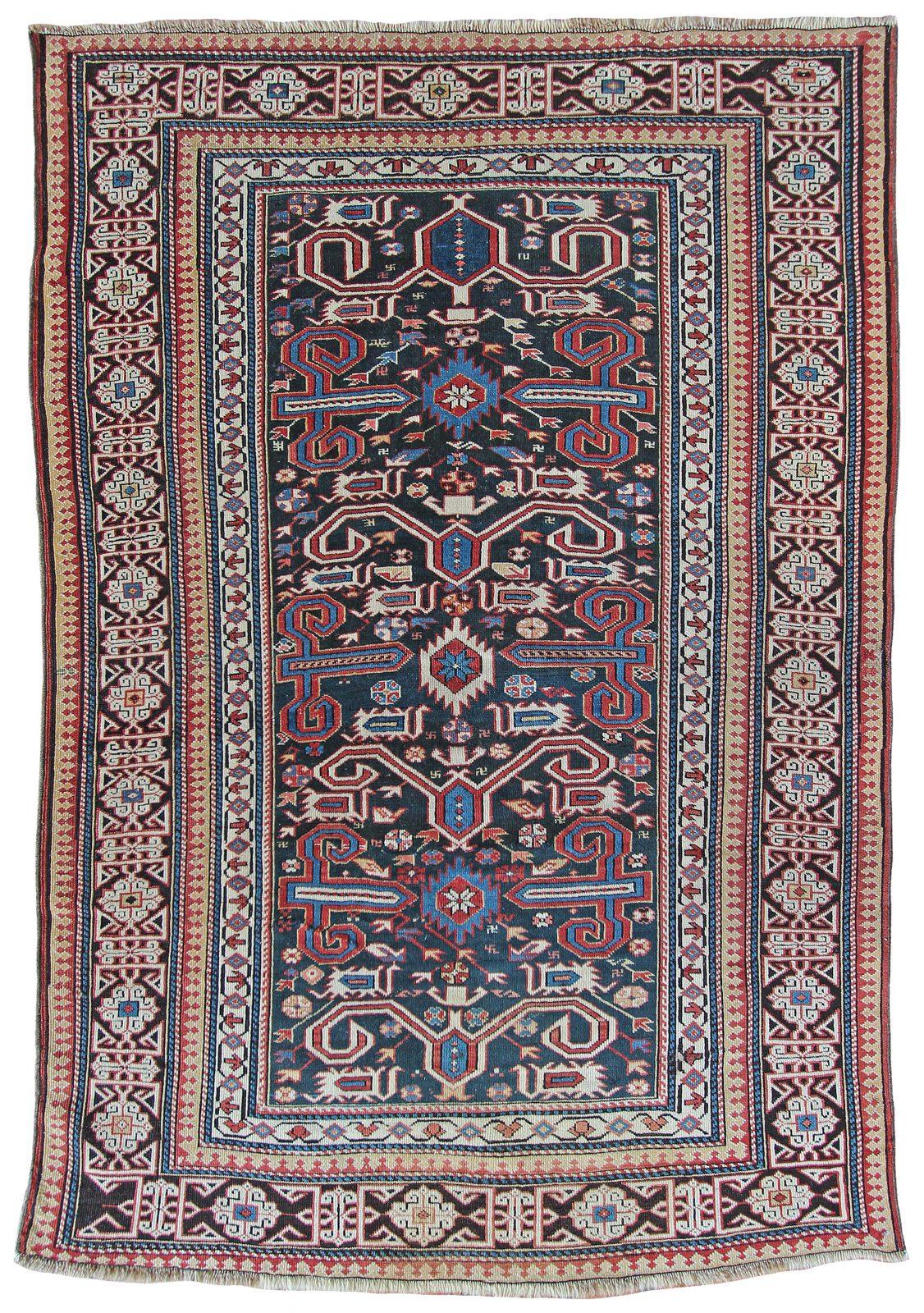Antique Perepedil rug, Caucasian - Farnham Antique Carpets